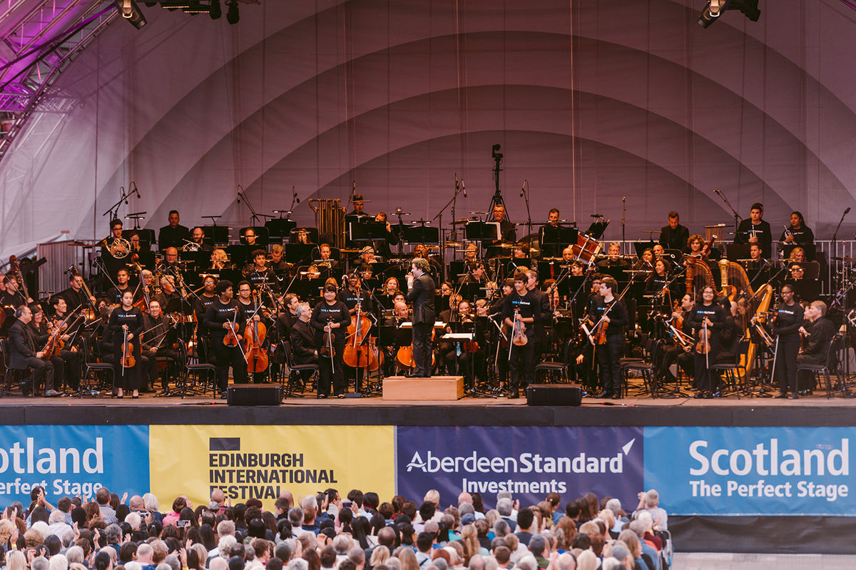 YOLA National with the Los Angeles Philharmonic Orchestra | Photo: Gaelle Beri