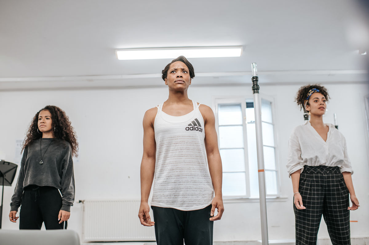 The Cast Of Lament For Sheku Bayoh In Rehearsal