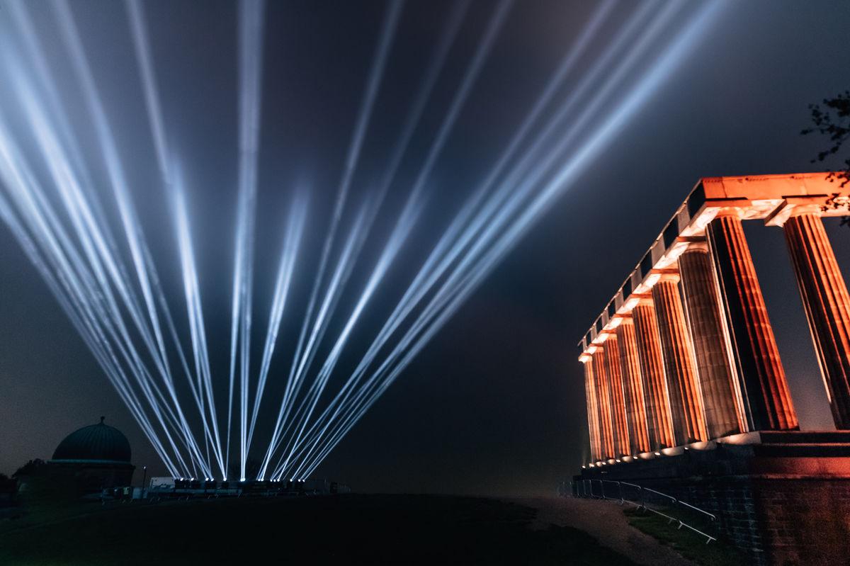 My Light Shines On lights over Carlton Hill