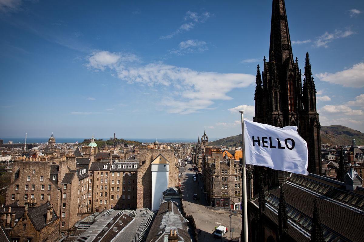 Peter Liversidge Flags For Edinburgh 2013  Courtesy Of The Artist And Edinburgh Art Festival  By Stuart Armitt