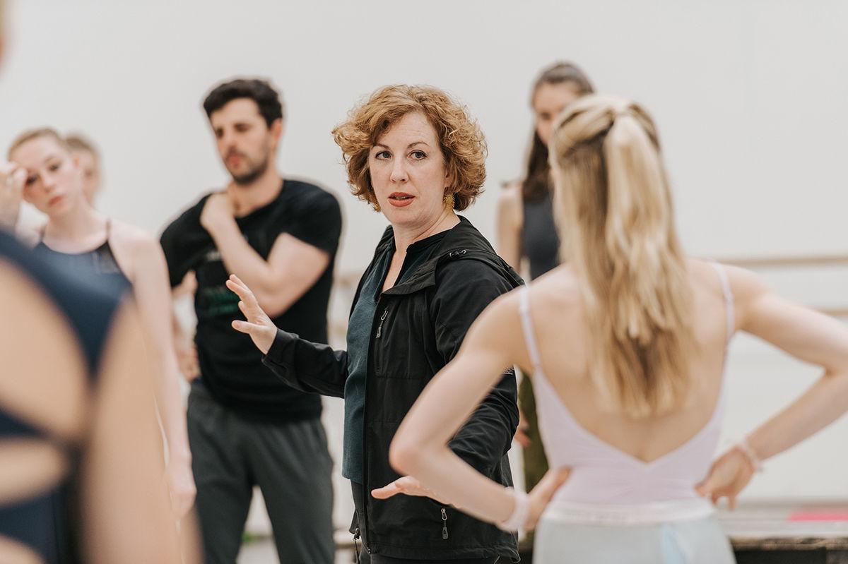 Choreographer Helen Pickett in rehearsals for Scottish Ballet's The Crucible by Arthur Miller, choreographed by Helen Pickett (3)