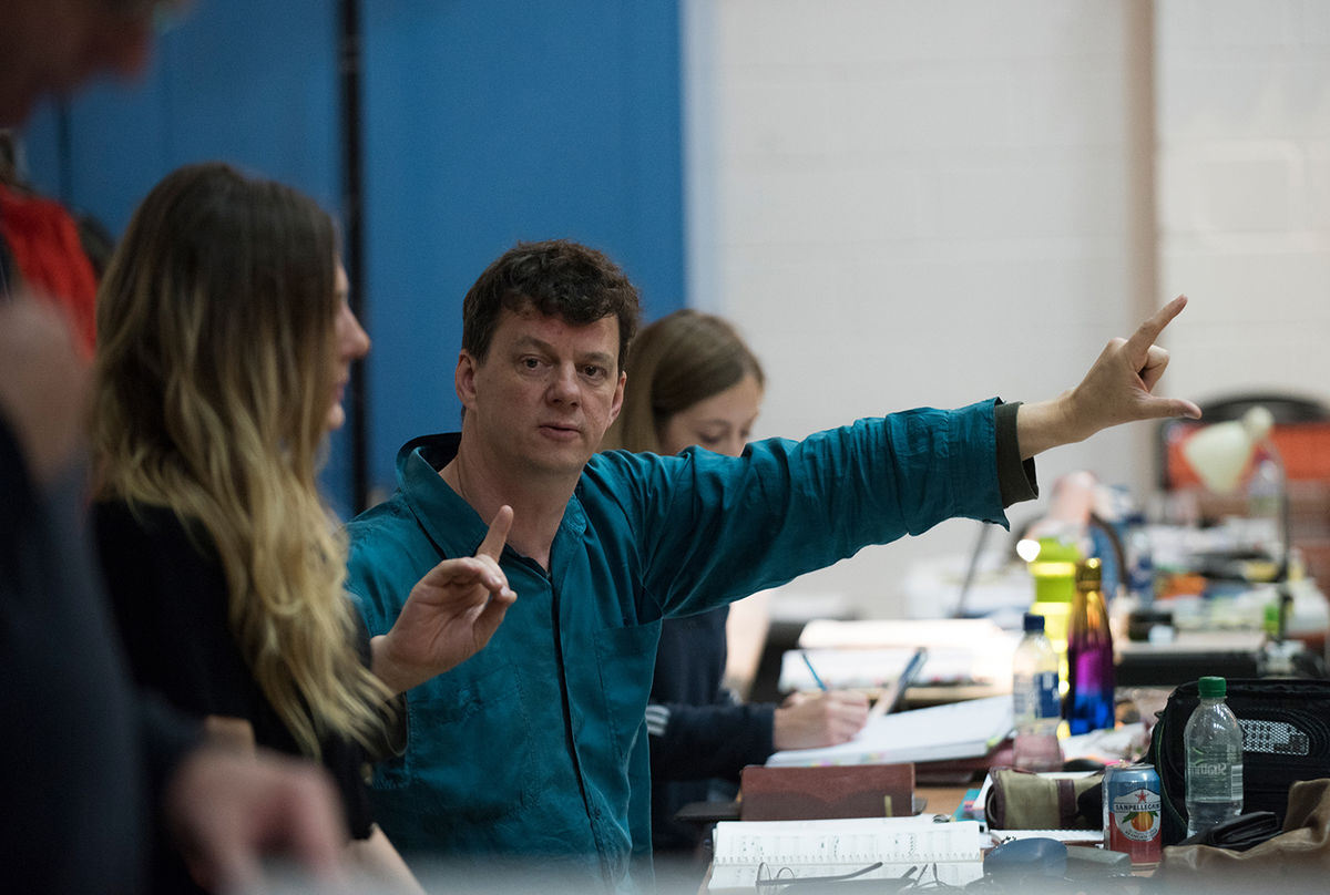 Director Tom Morris In Rehearsals For Breaking The Waves  Credit Julie Howden