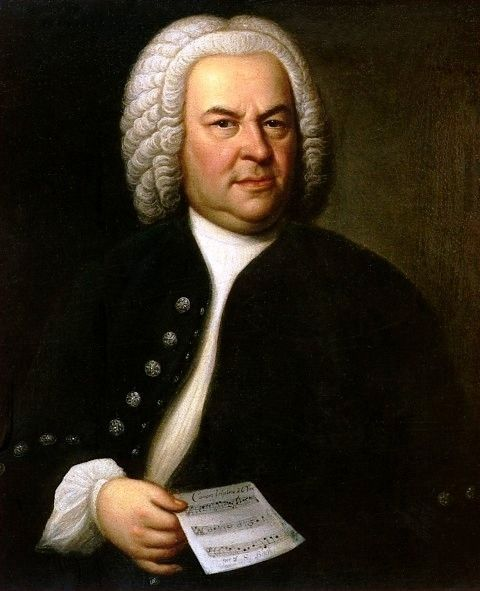 Johann Sebastian Bach  Portrait Of Bach Aged 61 By E  G  Haussmann 1748