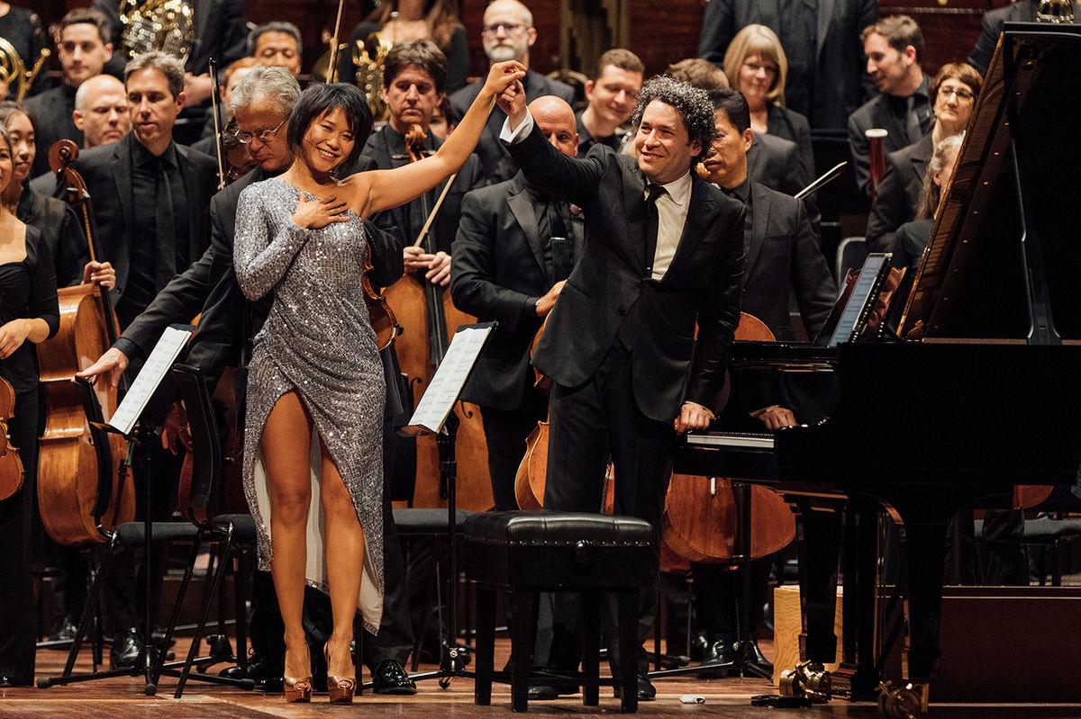 Yuja Wang & Gustavo Dudamel | Photo: Ryan Buchanan