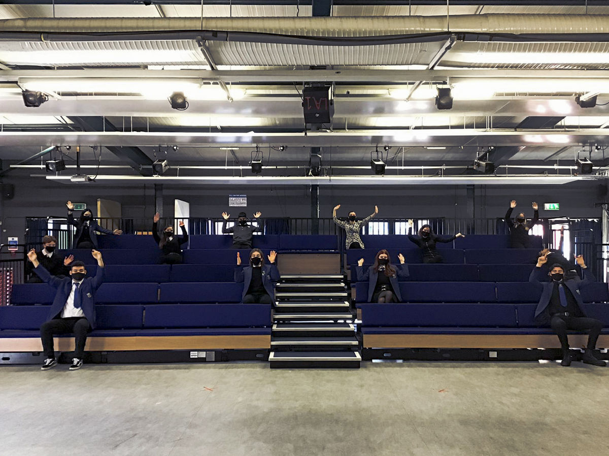 Leith Academy Drama Studio Seating Bank 1 © Edinburgh International Festival